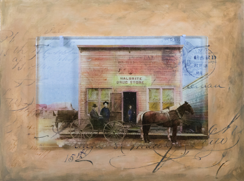 Halbrite Drug Store Art by Sandy Young