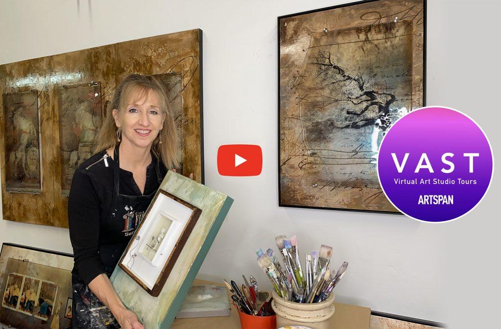 Video of Sandy Young's Art Studio by Artspan, San Francisco.